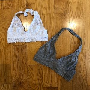 2 lace Aerie bralettes both size Small